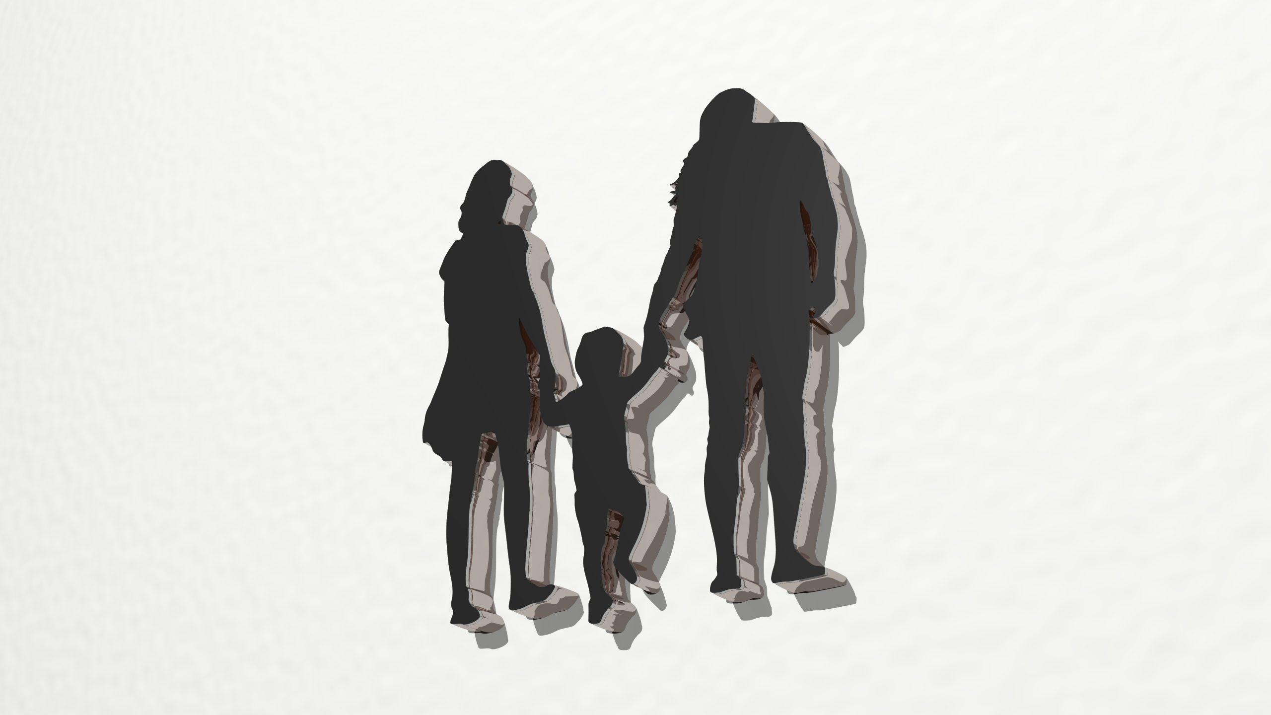 Illustration av familj.