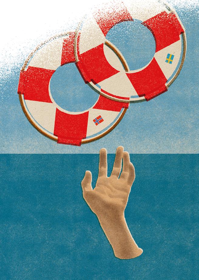 Norsk rusreform. Illustration Tzenko Stoyanov