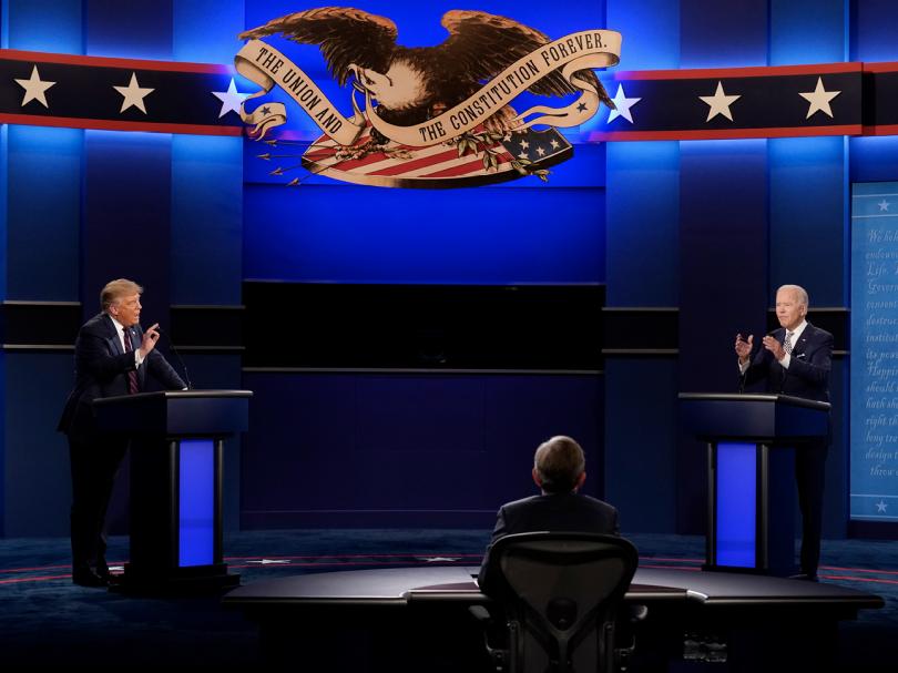 Presidentvalsdebatt i USA mellan Trump och Biden