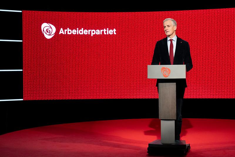 Foto av Arbeiderpartiets ordförande Jonas Støre