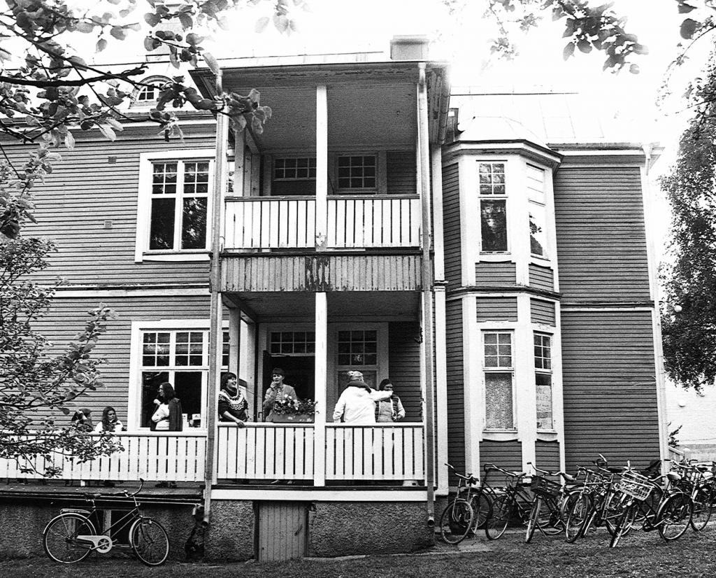 Foto av Gula villan i Umeå 1983